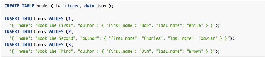 What is a JSON Data Type and Does Yellowfin Support it