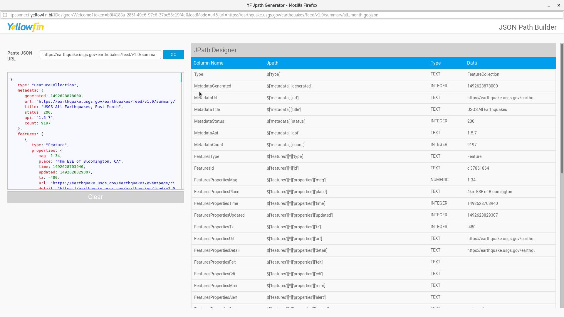 JSON Connector | Data Sources
