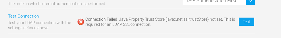 How to configure LDAP with TSL