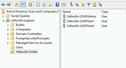 LDAP Authentication Configuration in Yellowfin | System