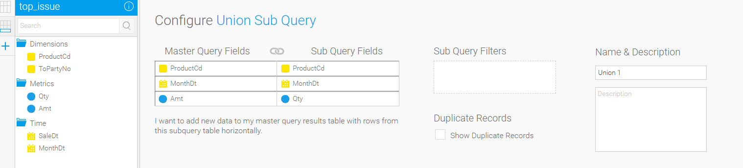 Report row limit on sub-queries